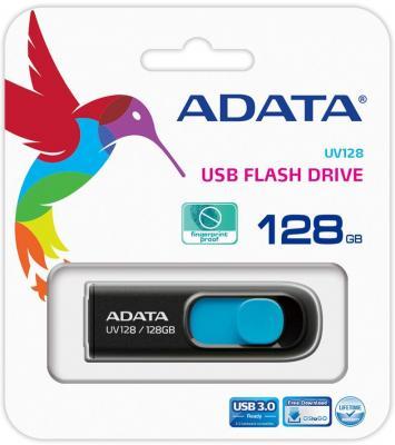 Флешка USB 128Gb A-Data UV128 USB3.0 AUV128-128G-RBE черный синий от 123.ru