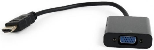 Фото - Переходник HDMI VGA 0.15м Gembird A-HDMI-VGA-04 круглый черный видео