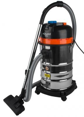 Промышленный пылесос Sturm VC7203 сухая влажная уборка серебристый чёрный робот пылесос iclebo arte сухая уборка серебристый