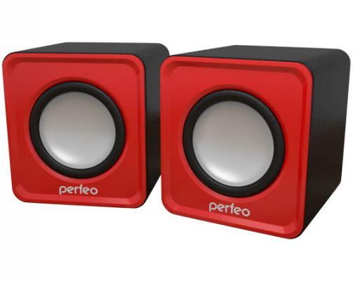 Колонки Perfeo Wave PF-128-R 2x3 Вт USB красный