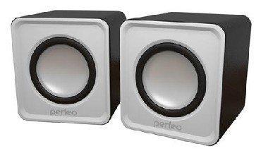Колонки Perfeo Wave PF-128-W 2x3 Вт USB белый цена и фото