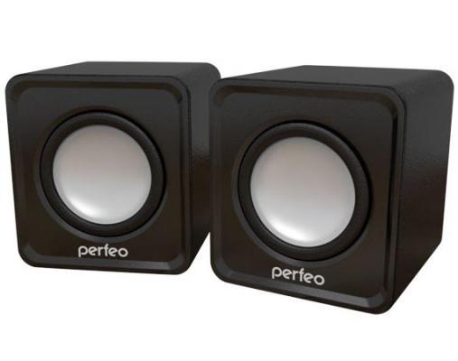 Колонки Perfeo Wave PF-128-B 2x3 Вт USB черный