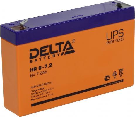 Батарея Delta HR 6-7.2 7.2Ач 6B батарея delta hr 6 4 5 6v 4 5ah