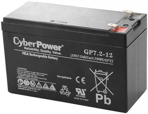все цены на Батарея CyberPower 12V 7.2Ah GP7.2-12