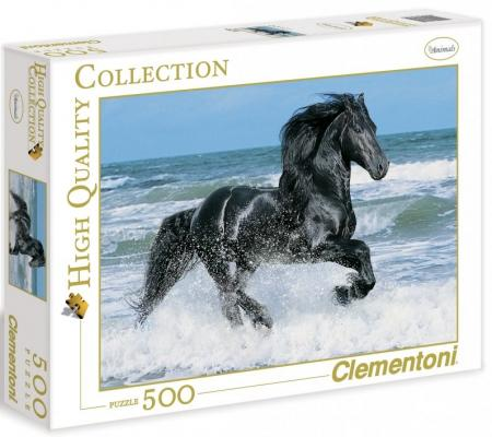 Пазл Clementoni Вороной конь в море 500 элементов 30175 пазл clementoni hq щенки лабрадора 1500 31976