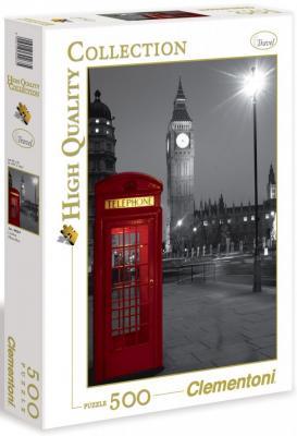 Пазл Clementoni Красная телефонная будка 500 элементов 30263 clem пазл 500эл классика 30263 лондон красная телефонная будка
