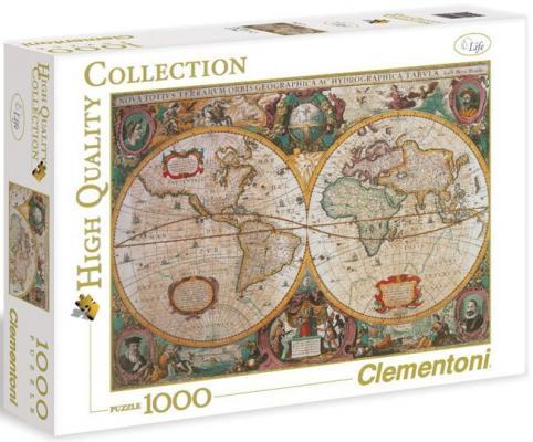 Пазл Clementoni Древняя карта мира 1000 элементов 31229 пазл clementoni hq щенки лабрадора 1500 31976