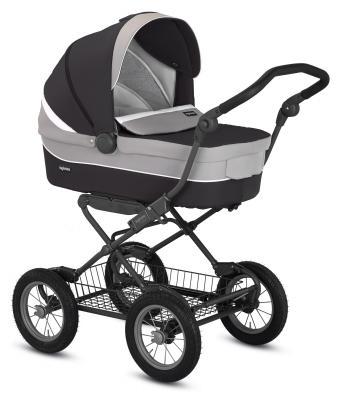 Коляска для новорожденного Inglesina Sofia на шасси Ergobike Slate (AB15H6GRF/Y+ AE15H6100/ цвет grafite)