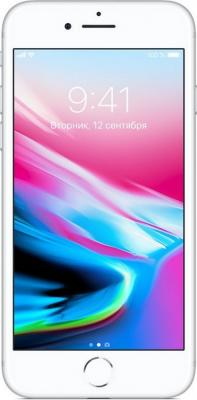 Смартфон Apple iPhone 8 серебристый 4.7 256 Гб NFC LTE Wi-Fi GPS 3G MQ7D2RU/A смартфон zte blade a510 серый 5 8 гб lte wi fi gps 3g
