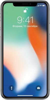 Смартфон Apple iPhone X 64 Гб серебристый MQAD2RU/A смартфон apple iphone x 64gb silver mqad2ru a apple a11 3 gb 64 gb 5 8 2436x1125 12 12mpix 3g 4g bt ios 11