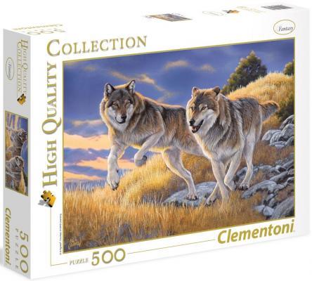 Пазл Clementoni Волки 500 элементов 35033 clementoni пазл hq волки 500