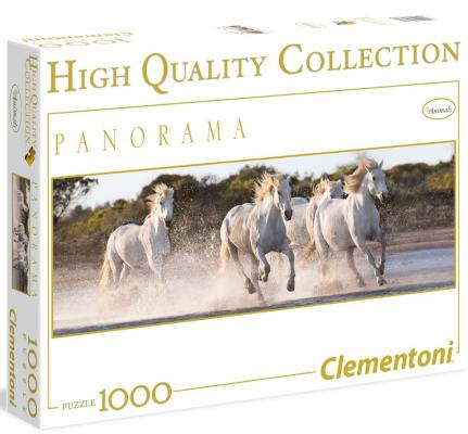 Пазл Clementoni Панорама.Белые лошади 1000 элементов 39371 пазл clementoni hq щенки лабрадора 1500 31976