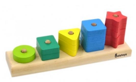 Пирамида alatoys Геометрические фигуры 15 элементов цены онлайн