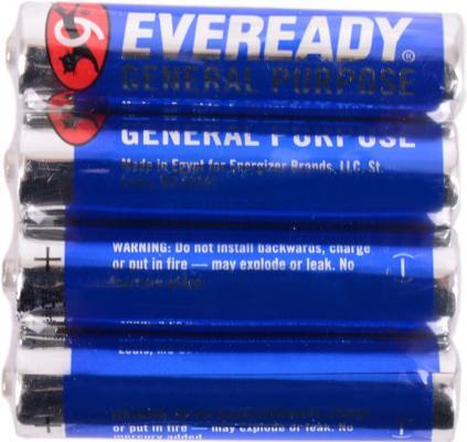 Батарейки Energizer Carbon Zinc Eveready 639609\\E301012900 AAA 4 шт батарейка d energizer eveready super r20 ni mh 2 штуки