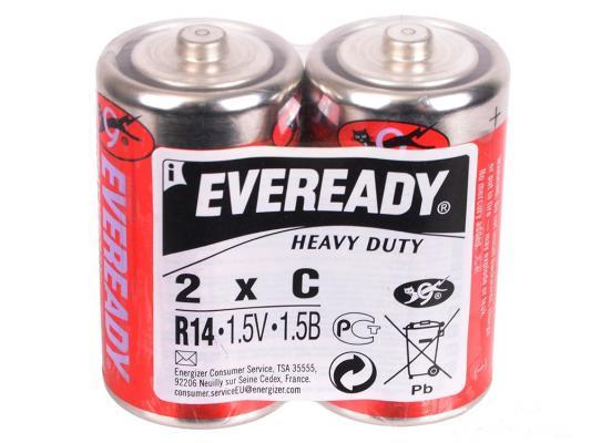 Батарейки Energizer Carbon Zinc Eveready C 2 шт 638772 батарейка d energizer eveready super r20 ni mh 2 штуки