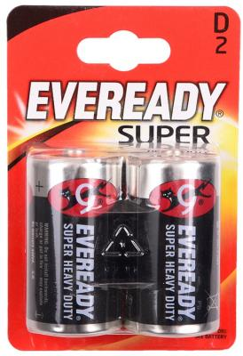Батарейки Energizer Carbon Zinc Eveready D/R20 D 2 шт 637087 батарейка d energizer eveready super r20 ni mh 2 штуки