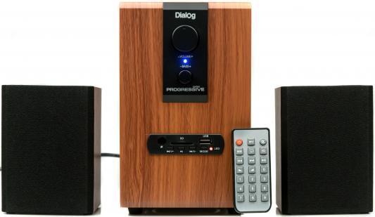 Колонки Dialog Progressive AP-150 2x2.5 + 5 Вт USB+SD reader коричневый