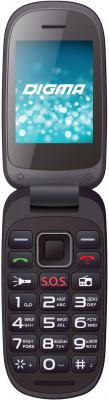 Телефон Digma A200 черный 2.4 4 Мб смартфон 5 digma vox s505