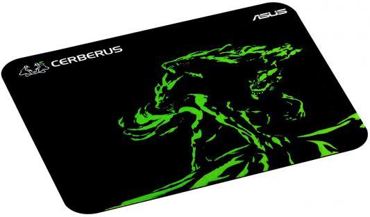 Коврик для мыши Asus Cerberus Mat Mini черный/зеленый 90YH01C4-BDUA00