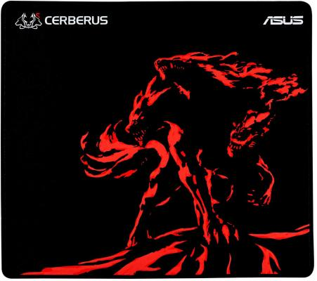 Коврик для мыши Asus Cerberus Mat Plus черный/красный 90YH01C2-BDUA00