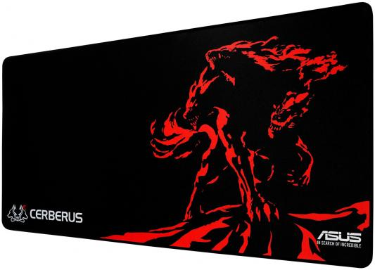 Коврик для мыши Asus Cerberus Mat XXL черный/красный 90YH01C1-BDUA00