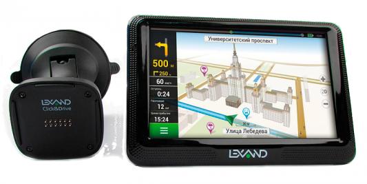 Навигатор LEXAND CD5 HD 5 800x480 microSD Bluetooth FM-трансмиттер черный Navitel