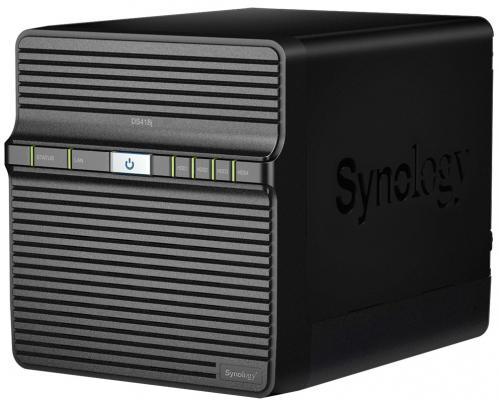 Сетевое хранилище Synology DS418J 4x2,5 / 3,5 сетевое хранилище synology ds1618 16x2 5 3 5