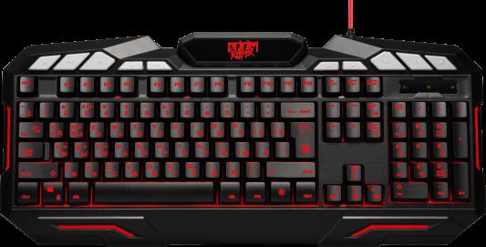 Клавиатура проводная Defender Doom Keeper GK-100DL USB черный 45100
