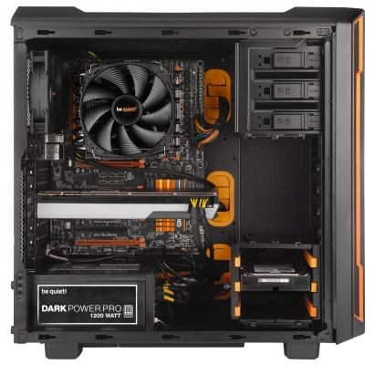 Корпус ATX Be quiet Silent Base 600 Без БП чёрный оранжевый