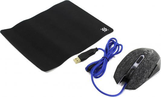 Мышь проводная Defender Shock GM-110L чёрный USB 52110 мышь defender shock gm 110l 52110
