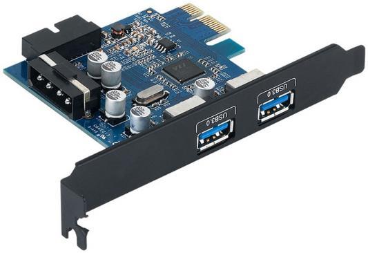 Контроллер PCI-E Orico PVU3-2O2I 2xUSB 3.0 контроллер pci e orico pvu3 2o2i 2xusb 3 0