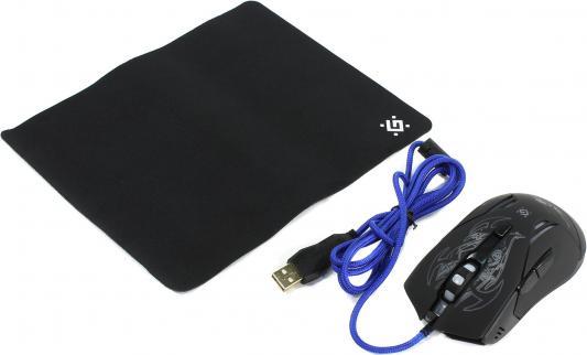 Мышь проводная Defender Bionic GM-250L чёрный USB 52250
