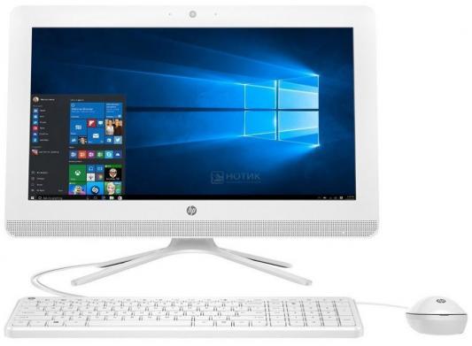 "Моноблок 19.5"" HP 20-c029ur 1600 x 900 Intel Celeron-J3060 4Gb 500Gb Intel HD Graphics 400 DOS белый 1EE18EA"