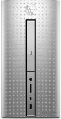 Системный блок HP Pavilion 570 570-p057ur i5-7400 3.0GHz 8Gb 2Tb 16Gb SSD GTX1050-2Gb DVD-RW Win10 клавиатура мышь серебристый 1ZN07EA