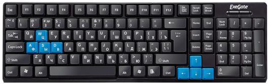 Клавиатура проводная Exegate LY-402 USB черный цена 2017