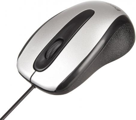 Мышь проводная Exegate SH-9026S чёрный серебристый USB