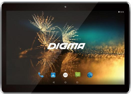 Фото Планшет Digma Plane 1525 3G 10.1 16Gb Black Wi-Fi 3G Bluetooth Android PS1137MG сотовый телефон digma linx a177 2g