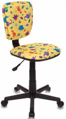 Кресло детское Бюрократ CH-204NX/DINO-Y желтый динозаврики кресло бюрократ ch 1201nx yellow желтый