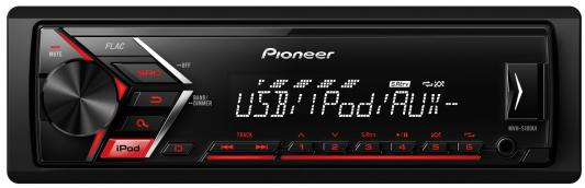 Автомагнитола Pioneer MVH-S100UI USB MP3 FM RDS 1DIN 4x50Вт черный автомагнитола kenwood kmm 103ry usb mp3 fm rds 1din 4х50вт черный