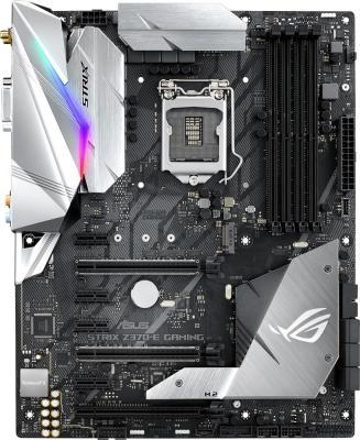 Материнская плата ASUS ROG STRIX Z370-E GAMING Socket 1151 v2 Z370 4xDDR4 3xPCI-E 16x 4xPCI-E 1x 6 ATX Retail asus p5q e desktop motherboard p45 socket lga 775 ddr2 16g sata2 usb2 0 atx