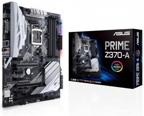 Материнская плата ASUS PRIME Z370-A Socket 1151 v2 Z370 4xDDR4 3xPCI-E 16x 4xPCI-E 1x 6 ATX