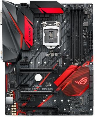 Материнская плата ASUS ROG STRIX Z370-H GAMING Socket 1151 v2 Z370 4xDDR4 3xPCI-E 16x 3xPCI-E 1x 6 ATX Retail asus p5q e desktop motherboard p45 socket lga 775 ddr2 16g sata2 usb2 0 atx