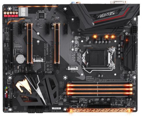 Материнская плата GigaByte Z370 AORUS Ultra Gaming Socket 1151 v2 Z370 4xDDR4 3xPCI-E 16x 3xPCI-E 1x 6 ATX Retail