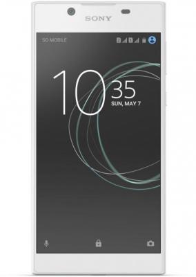 """купить Смартфон SONY Xperia L1 Dual белый 5.5"""" 16 Гб NFC LTE Wi-Fi GPS 3G G3312White недорого"""