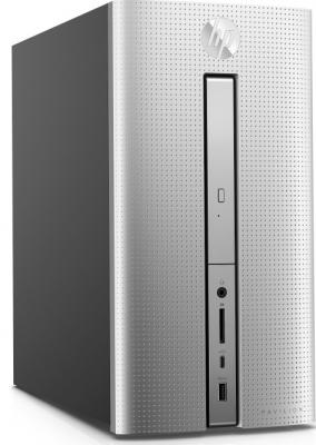 Системный блок HP Pavilion 570 570-p021ur A12-9800 3.9GHz 12Gb 2Tb GTX1050-2Gb DVD-RW Win10 клавиатура мышь серебристый 1GS87EA