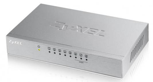 Коммутатор Zyxel ES-108A V3-EU0101F неуправляемый 8 портов 10/100Mbps коммутатор upvel up 208se 8 портов poe 10 100mbps