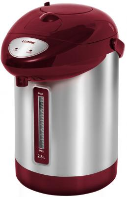Термопот Lumme LU-295 900 Вт красный гранат 2.8 л металл термопот supra tps 3016 730 вт 4 2 л металл серебристый
