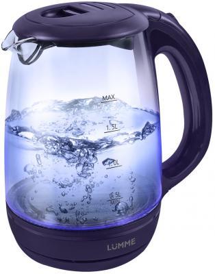 Чайник Lumme LU-134 2200 Вт темный топаз 2 л стекло электрический чайник lumme lu 131 dark topaz