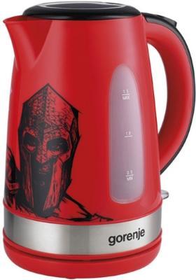 Чайник Gorenje K15FCSM 2200 Вт красный рисунок 1.5 л металл/пластик майка классическая printio fcsm ч б