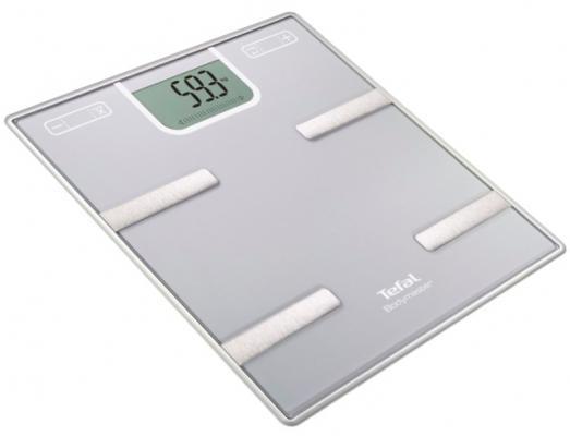 Весы напольные Tefal BM6010VO серебристый весы напольные tefal bm6010 серебристый